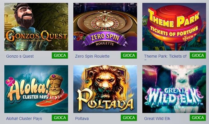 Casino1Club Giochi