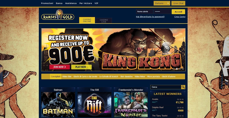 casinò online ramses gold