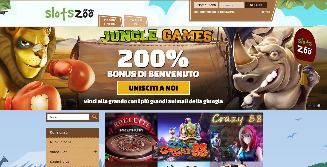 casinò online europei SlotsZoo