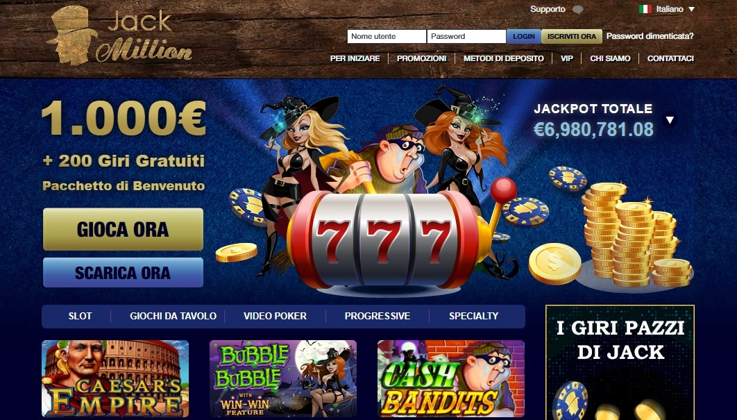 casinò online europei jack million