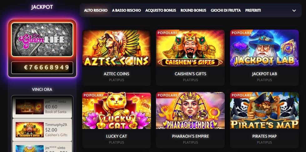 giochi casinò slot machine online