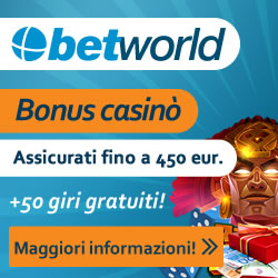 bonus casinò betworld