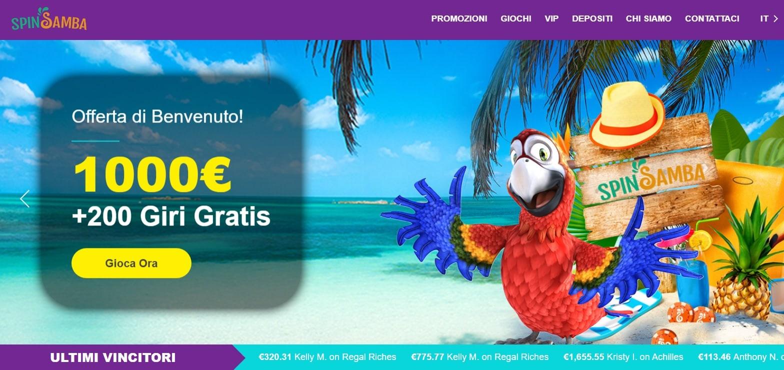 casinò online spin samba