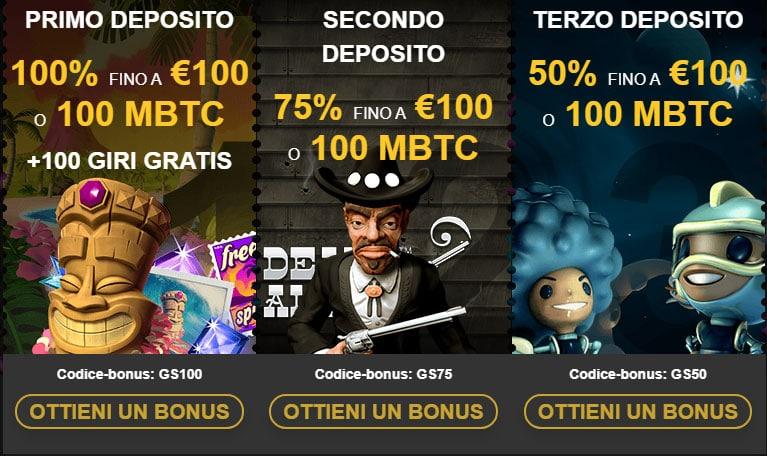 goldenstar casino bonus