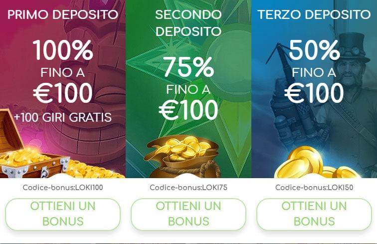 Loki casino italia bonus