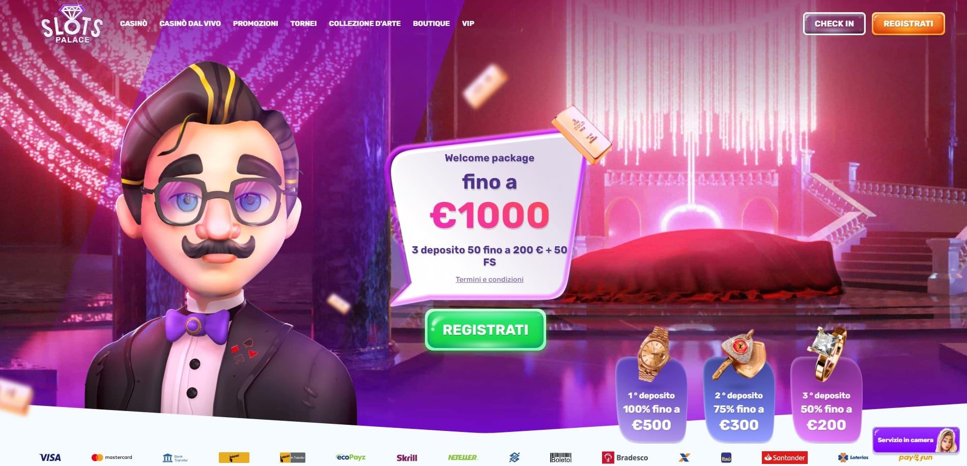 casinò online stranieri slots palace