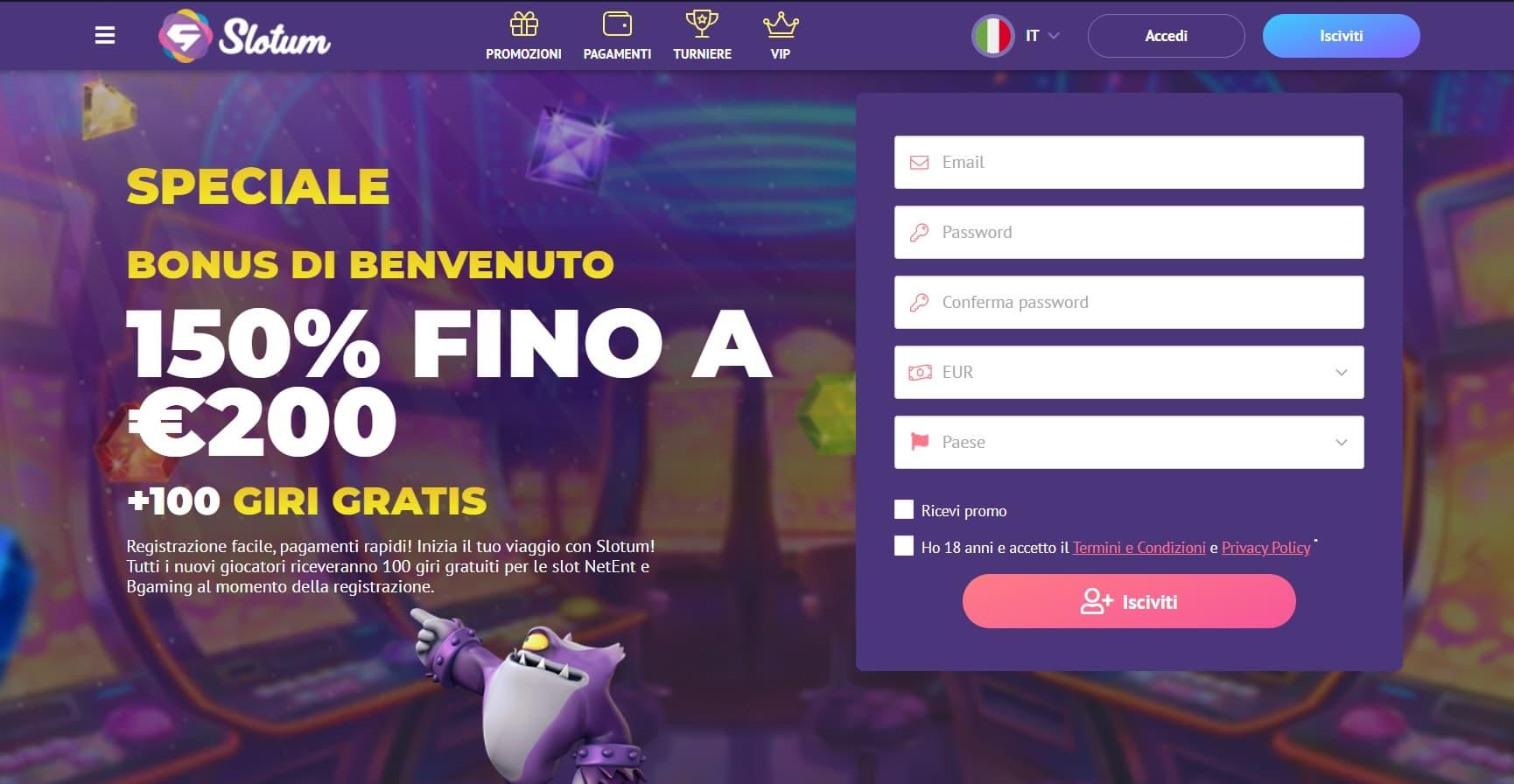 casinò online slotum
