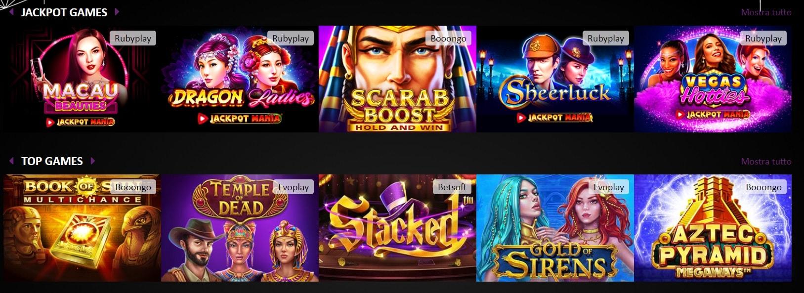 giochi da casinò online black magic