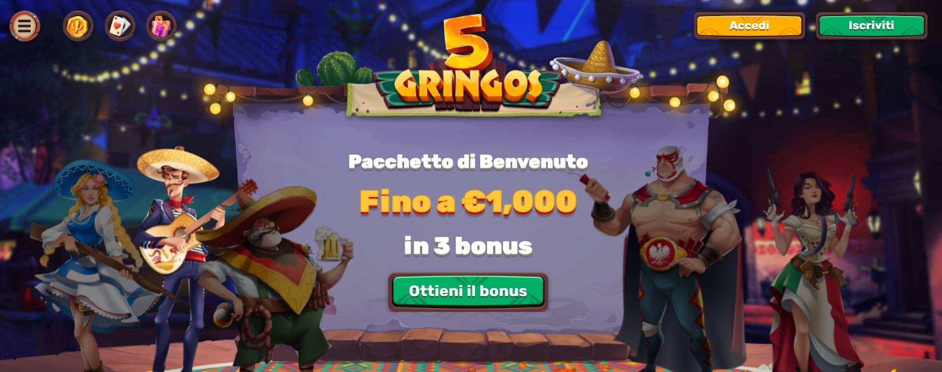 casinò online 5 gringos recensioni